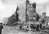 Ruined buildings, possibly on Henry St. (Part of the Independent Newspapers Ireland/NLI Collection)
