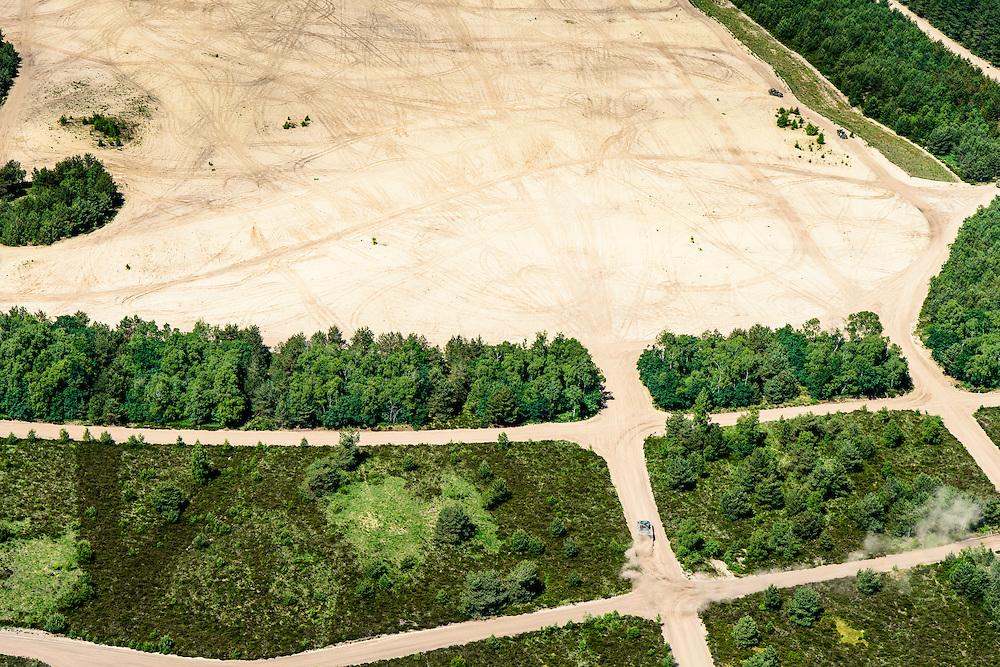 Nederland, Utrecht, Amersfoort, 09-06-2016;  Militair oefenterrein Leusderheide. Oefening met  pantservoertuigen.<br />  Militair training site  Leusderheide.<br /> <br /> luchtfoto (toeslag op standard tarieven);<br /> aerial photo (additional fee required);<br /> copyright foto/photo Siebe Swart, 09-06-2016;