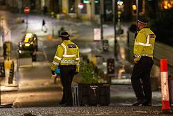 31DEC20 Police on Princes Street, Edinburgh on Hogmanay.