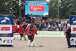 Jurado Lopez Severo Jesus, (ESP), Fiontini<br /> Final 5 years old horses<br /> World Championship Young Dressage Horses - Verden 2015<br /> © Hippo Foto - Dirk Caremans<br /> 08/08/15