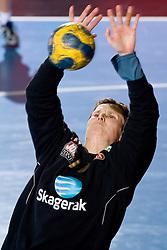 Goalkeeper of Larvik Lene Rantala during 3rd Main Round of Women Champions League handball match between RK Krim Mercator, Ljubljana and Larvik HK, Norway on February 19, 2010 in Arena Kodeljevo, Ljubljana, Slovenia. Larvik defeated Krim 34-30. (Photo by Vid Ponikvar / Sportida)