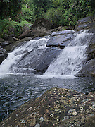 Waterfall on the Rio Cubuy, north of Naguabo, Puerto Rico, in the El Yunque National Forest.