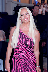 May 29, 2001; Modane, France; North America Sales ONLY! Fashion Designer DONATELLA VERSACE attends attends Pavarotti's concert in Modane..  (Credit Image: Remi Agency/ZUMAPRESS.com)