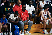 NORTH AUGUSTA, SC. July 10, 2019. Fans at Nike Peach Jam in North Augusta, SC. <br /> NOTE TO USER: Mandatory Copyright Notice: Photo by Jon Lopez / Nike