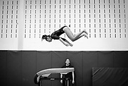 Freehold Borough's Arah Godbole [cq] competes in the vault during the gymnastics meet with Howell held at Freehold Borough High School on September 30, 2014.