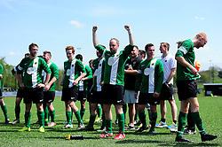 Matthew Barnes of SWYD United cheers - Mandatory by-line: Dougie Allward/JMP - 08/05/2016 - FOOTBALL - Keynsham FC - Bristol, England - BAWA Sports v SWYD United - Presidents cup final