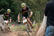 Thomas FRISCHKNECHT (SUI)and Urs GERIG (SUI) of team SCOTT-SRAM Old Dudes during the Prologue of the 2019 Absa Cape Epic Mountain Bike stage race held at the University of Cape Town in Cape Town, South Africa on the 17th March 2019.<br /> <br /> Photo by Greg Beadle/Cape Epic<br /> <br /> PLEASE ENSURE THE APPROPRIATE CREDIT IS GIVEN TO THE PHOTOGRAPHER AND ABSA CAPE EPIC
