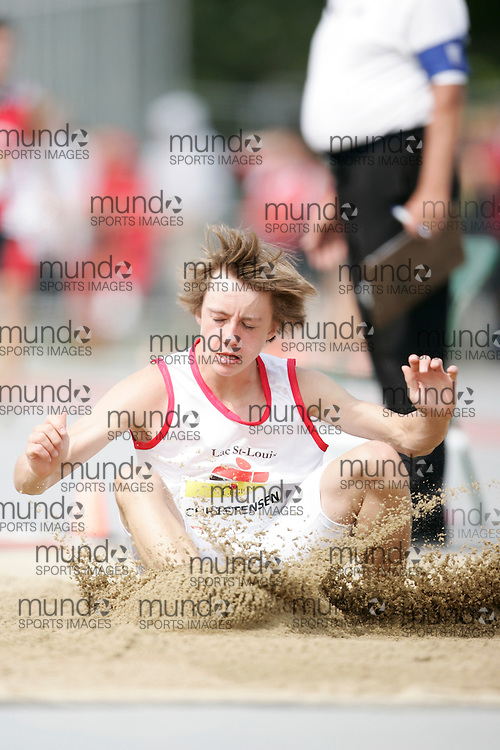Ottawa, Ontario ---10-08-08--- Christensen competes in the Long Jump at the 2010 Royal Canadian Legion Youth Track and Field Championships in Ottawa, Ontario August 8, 2010..GEOFF ROBINS/Mundo Sport Images.