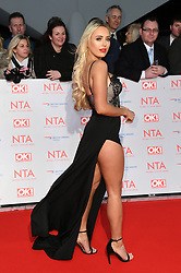 Amber Turner attending the National Television Awards 2018 held at the O2, London. Photo credit should read: Doug Peters/EMPICS Entertainment