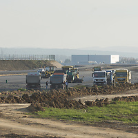 Work is in progress on the construction of the Zone test track aimed to support development of autonomous self-driving vehicles in Zalaegerszeg (about 220 kilometres South-West of capital city Budapest), Hungary on Nov. 12, 2018. ATTILA VOLGYI