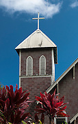 An old Hawaiian church on the island of Maui, Hawaii