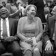 From left, United States Supreme Court Justice, Clarence Thomas, wife, Virginia, and US Supreme Court Justice Stephen Breyer enjoy themselves before the Antonin Scalia Law School Dedication, at the Antonin Scalia School of Law, Arlington, VA, Thursday, October 6,, 2016. For George Mason University Scalia School of Law