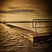 Before the plunge, Newcastle Ocean Baths, Australia.<br /> From the View 3 Exhibition.