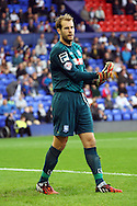 Tranmere Rovers' goalkeeper Owain Fon Williams looks on. Skybet football league two match, Tranmere Rovers v Exeter city at Prenton Park in Birkenhead, the Wirral on Saturday 20th Sept 2014.<br /> pic by Chris Stading, Andrew Orchard sports photography.