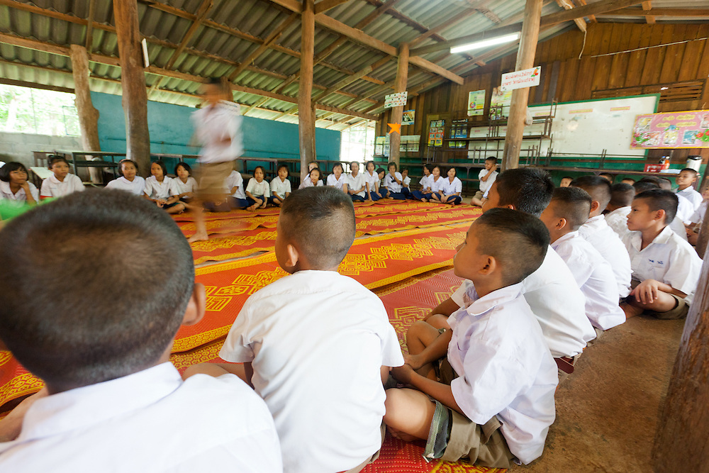 In Thailand, learning english is a necessity. A large majority of Thailand's economy depends on tourism. As most tourists use english to communicate with other people who can not speak their native tongue it is important to know english to get a decent job. <br /> <br /> Nathan Blake, a teacher and writer decided to continue some of his fathers work in a small school outside Mae Sot in North-Central Thailand. The school is made up of mostly native Thai children it is also has a small population of Karen who are refugees from Myanmar. <br /> <br /> Because transportation isn't an option most of the students stay at the school as well as a Christian Hostel next to the school.