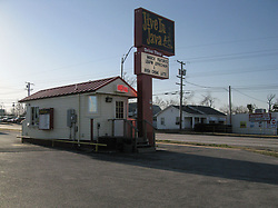 Jive In Java, along the Old Historic US Route 66 in Joplin MO. Early Morning Sun, and no people.
