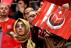 09-01-2016 TUR: European Olympic Qualification Tournament Turkije - Italie, Ankara<br /> De strijd om de tweede Japan ticket wordt gewonnen door Italie. Turkije verliest in de 5de set met 13-15 / Turks publiek, support. De droom naar Rio is voorbij.
