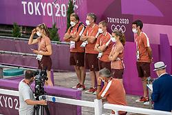 Team Switzerland, Wettstein Ernst, Bruger Dominik, Godel Robin, Bodenmuller Eveline, Vogg Felix, Nicholson Andrew<br /> Olympic Games Tokyo 2021<br /> © Hippo Foto - Tomas Holcbecher<br /> 30/07/2021