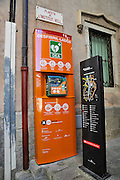 Girona, Historic centre, Catalonia, Spain a public access defibrillator