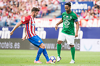 Atletico de Madrid Legends's Saul Niguez and World Legend's Ronaldinho during friendly match to farewell  to Vicente Calderon Stadium in Madrid, May 28, 2017. Spain.<br /> (ALTERPHOTOS/BorjaB.Hojas)