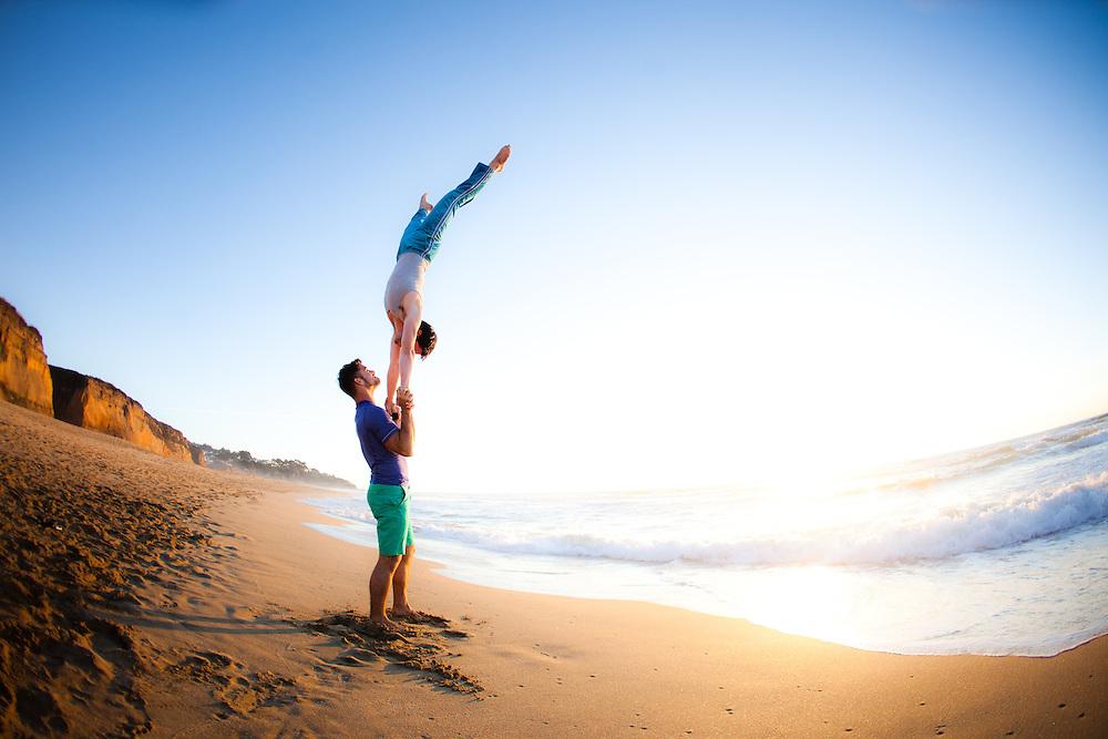 Jaimie Harrow & Steven Schmidt at Montara Beach, San Francisco