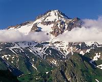 View of Glacier Peaks South Face, Glacier Peak Wilderness Washington USA