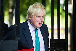London, July 4th 2017. Foreign and Commonwealth Secretary Boris Johnson attends the weekly cabinet meeting at 10 Downing Street in London.