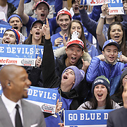 Duke students erupt during ESPN's live, College GameDay broadcast at Cameron Indoor Stadium in Durham. ©Travis Bell Photography