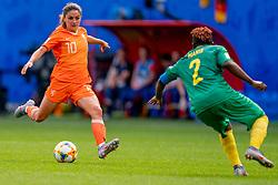 15-06-2019 FRA: Netherlands - Cameroon, Valenciennes<br /> FIFA Women's World Cup France group E match between Netherlands and Cameroon at Stade du Hainaut / Daniëlle van de Donk #10 of the Netherlands