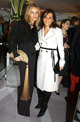 Left to right, SABINA MACTAGGART and ELLA KRASNER at a party hosted American House and Garden magazine with Tomasz Starzewski and Nina Campbell to celebrate the British Issue of the magazine, held at 14 Stanhope Mews West, London SW7 on 13th March 2005.<br />
