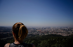 September 10, 2017 - Sao Paulo, Brazil - view of the viewpoint of Jaragua highest place of São Paulo where tourists enjoy the view of the city (Credit Image: © Dario Oliveira via ZUMA Wire)