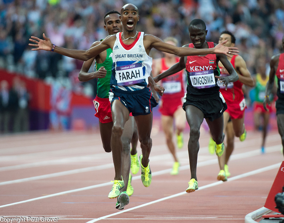 Olympics.Athletics.Pic Shows Mo Farah winning the 500m