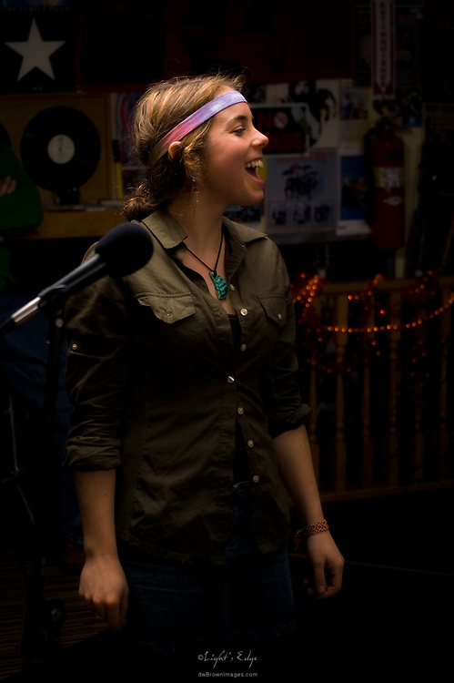 Alison Barnes singing with The Brownies at The Bus Stop Music Cafe in Pitman, NJ.