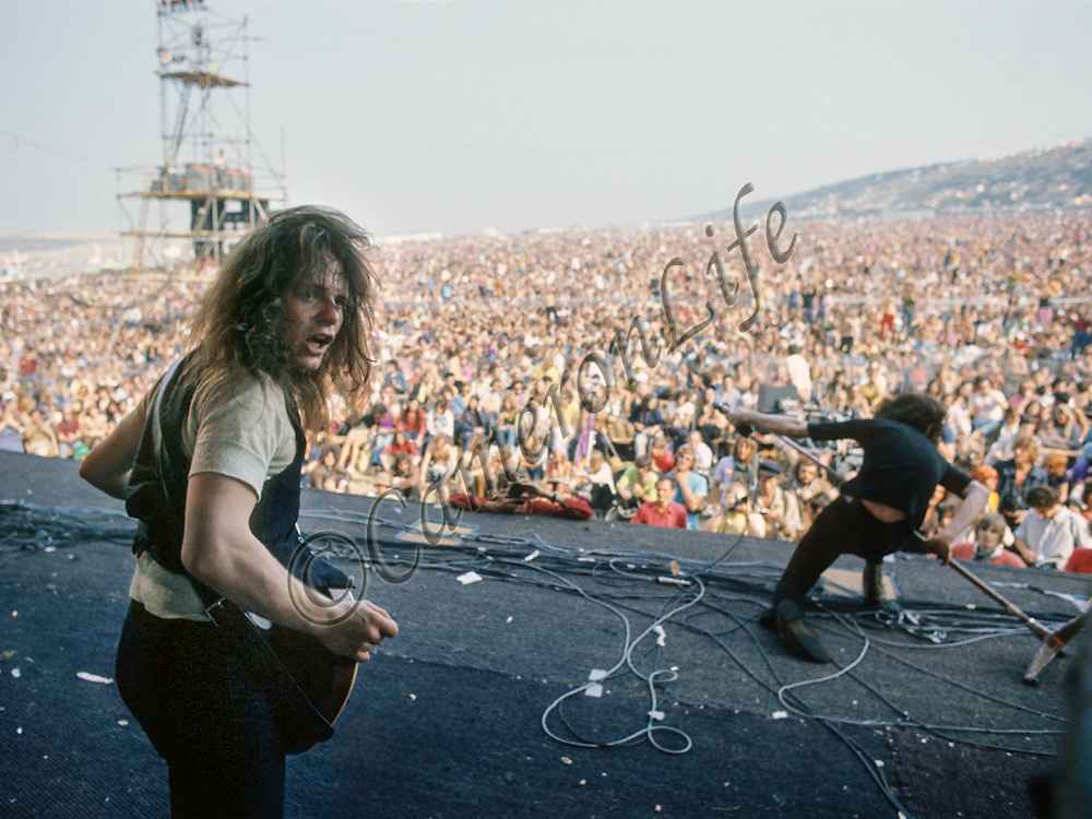 Paul Kossoff & Paul Rodgers (Free) - Isle of Wight Music Festival 1970, by Charles Everest.