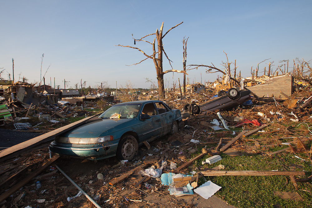 Smithville, A suburb of Tuscaloosa remains in a state of ruin over two weeks after it was hit by an F-4 ( possibly an F-5) tornado, one of an estimated 300 that struck Alabama and the neighboring states on April 27th , 2011.