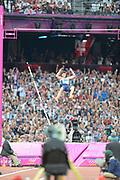Olympic Stadium, Stratford, London, United Kingdom, Pole vaulter Steve LEWIS, <br /> <br /> 2012 London Olympic, Athletics, <br /> 20:51:54  Friday  10/08/2012 [Mandatory Credit: Peter Spurrier/Intersport Images]