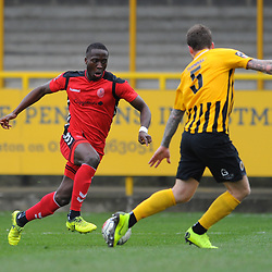 TELFORD COPYRIGHT MIKE SHERIDAN 2/3/2019 - Dan Udoh of AFC Telford during the National League North fixture between Boston United and AFC Telford United at the York Street Jakemans Stadium