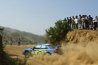 AUTO - WRC 2003 - CYPRUS RALLY -  20030622 - PHOTO : FRANCOIS BAUDIN / DIGITALSPORT<br />N¡ 7 - PETTER SOLBERG - PHILL MILLS / SUBARU IMPREZA WRC - ACTION
