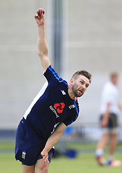 England's Mark Wood during the nets session at Lord's, London. PRESS ASSOCIATION Photo. Picture date: Tuesday July 4, 2017. See PA story CRICKET England. Photo credit should read: Nigel French/PA Wire. RESTRICTIONS: Editorial use only. No commercial use without prior written consent of the ECB. Still image use only. No moving images to emulate broadcast. No removing or obscuring of sponsor logos.