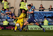 Marcus Browne of Oxford United provides the cross into box for Jerome Sinclair of Oxford United goal during the EFL Sky Bet League 1 match between Oxford United and Wycombe Wanderers at the Kassam Stadium, Oxford, England on 30 March 2019.