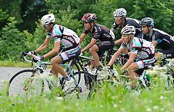 05.07.2010, AUT, 62. Österreich Rundfahrt, 2. Etappe, Landeck-Kitzbüheler Horn, im Bild v.l. Andrea Noe (ITA, Ceramica Flaminia), Sergio Pardilla (ESP, Carmiooro NGR), Stefan Denifl (AUT, Cervelo Test Team), Andrea Noe (ITA, Ceramica Flaminia), EXPA Pictures © 2010, PhotoCredit: EXPA/ S. Zangrando / SPORTIDA PHOTO AGENCY