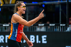 Mexime van Driel in action during the last day of the beach volleyball event King of the Court at Jaarbeursplein on September 12, 2020 in Utrecht.