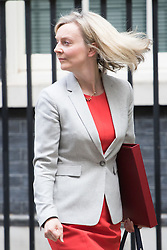 Downing Street,  London, June 27th 2015. Environment Food and Rural Affairs Secretary Elizabeth Truss leaves the first post-Brexit cabinet meeting at 10 Downing Street.
