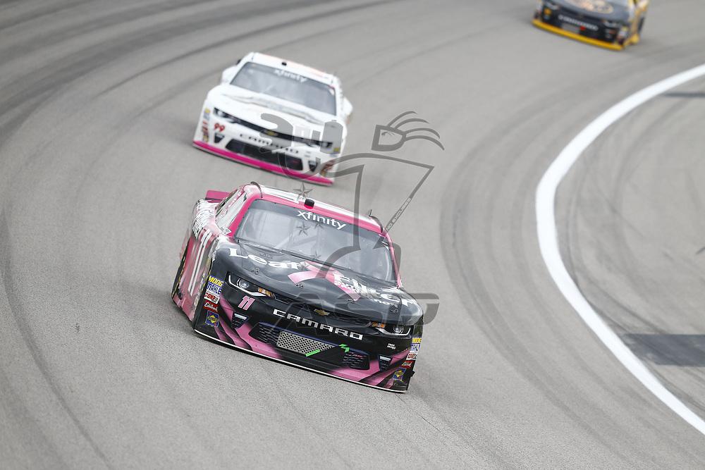 October 21, 2017 - Kansas City, Kansas, USA: Blake Koch (11) brings his car through the turns during the Kansas Lottery 300 at Kansas Speedway in Kansas City, Kansas.