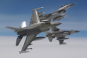 "Lockheed Martin F-16AM Fighting Falcon.Belgian Air Component.349 Squadron/10 Wing Tac.Kleine-Brogel AB, BELGIUM.Mace 52/Maj VI SBM Harold ""Harry"" VAN PEE.Mace 53/Colt VI Vincent ""Carpi"" CARPENTIER.Mace 54/Lt.Col. VI SBM Georges ""Jos"" OEJAEGER"