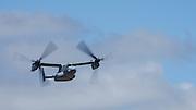 USA, Oregon, Hillsboro, Bell-Boeing MV-22 Osprey during its demonstration at the Oregon International Airshow.