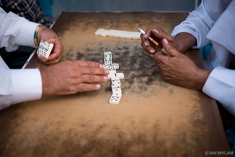 Playing Dice, Manama Souk, Bahrain