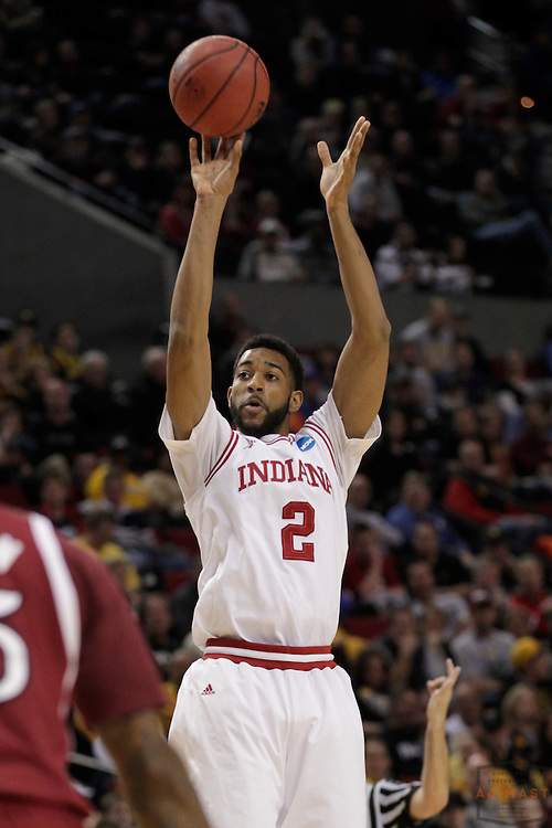 15 March 2012: Indiana Forward Christian Watford (2)  as the New Mexico State Aggies played the Indiana Hoosiers in the Second Round of the NCAA Division I Men's Basketball Championship at the Rose Garden in Portland, OR.