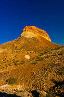 Cerro Castellan (Castolon Peak), Chihuahuan Desert, along Ross Maxwell Scenic Drive in Big Bend National Park, Texas USA.