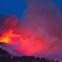 The West Riverside fire detonates on August 22, as seen from East Missoula.